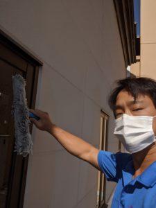 日本ハウスクリーニング協会大阪地区ボランティア清掃の写真。礼拝堂の清掃4