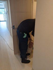 ハウスクリーニング研修写真。空室清掃現場研修