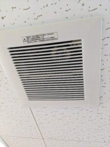 天井小型換気扇の分解清掃
